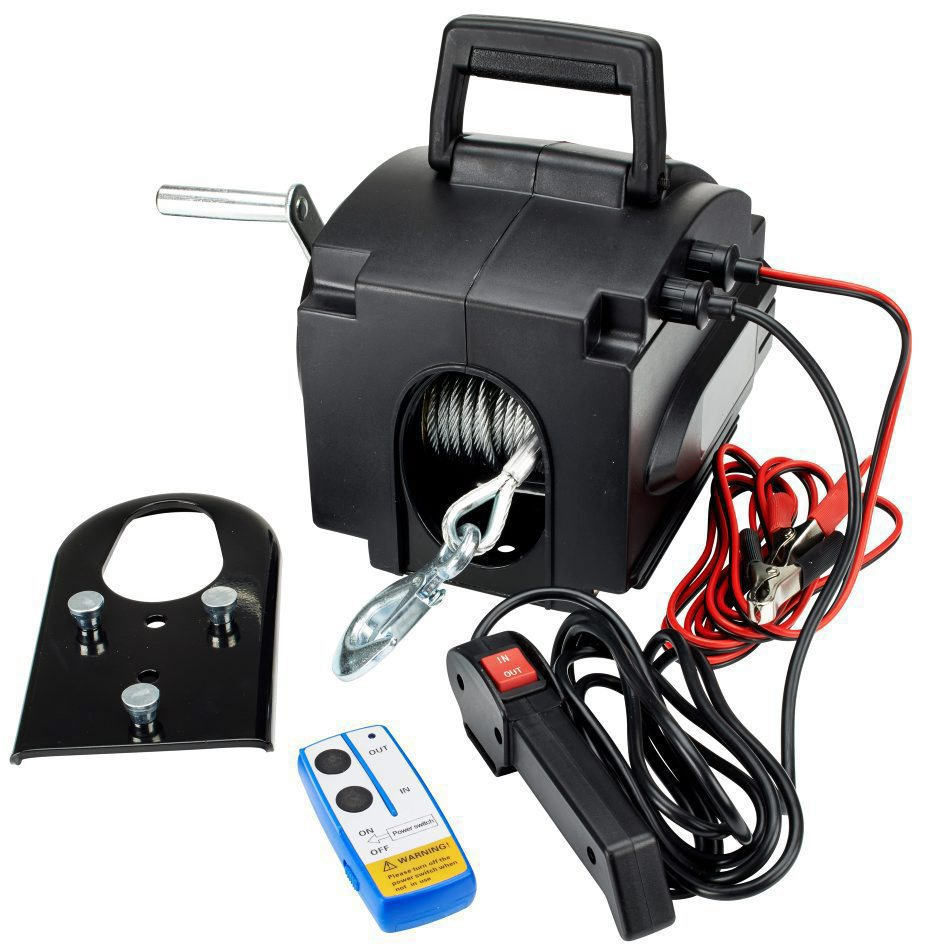 Marine Electric Winch 3500lbs Portable Marine Yacht Electric Winch Small Crane Tractor 12V