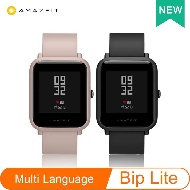 Global Version Amazfit Bip Lite Xiaomi Huami Smart Watch 1.28inch Dispaly Waterproof 45 days Battery Life Heart Rate Sleep on AliExpress