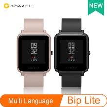 Smartwatch amazfit bip lite huami, versão global, 1.28 polegadas, dispaly, à prova d água, 45 dias de duração da bateria, frequência cardíaca, sono