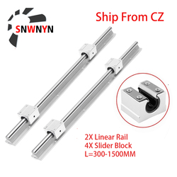 12mm Rail Guide SBR12 SBR16 SBR20 SBR25 Linear Rail Guide Slide 300 500 800 1000mm SBR12UU SBR16UU SBR20UU SBR25UU Bearing Block