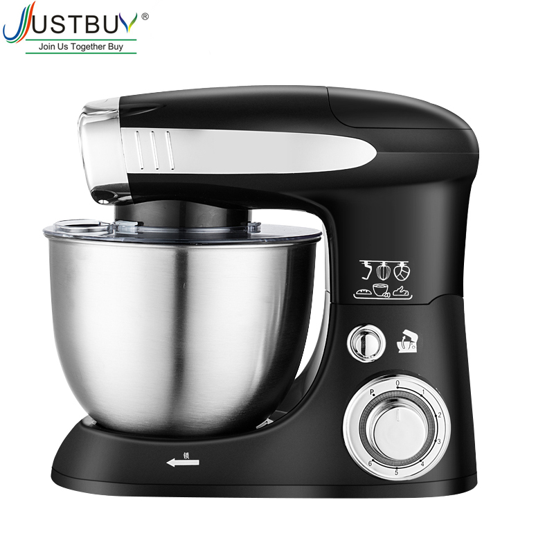4L 6-speed Kitchen Electric Food Stand Mixer Whisk Blender Cake Dough Bread Mixer Maker Machine