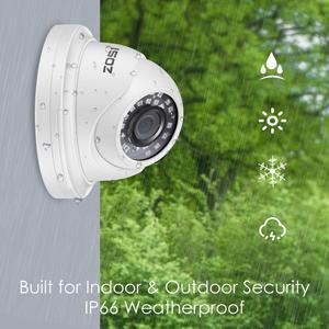 Image 4 - ZOSI H.265 + 8CH 5MP POE NVR Kit CCTV Home Security System 5MP Wasserdicht Indoor/Outdoor Dome IP Kamera video Überwachung Set