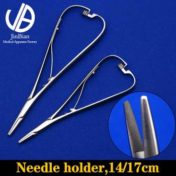 Needle holder 14/17cm stainless steel needle forceps surgical operating instrument Cosmetic and plastic medical tools