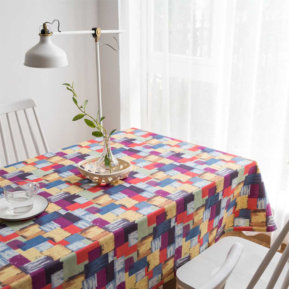 Custom Decoration Table Cloth Country Plaid Print Rectangle Square BritishTable Cover Tablecloth Home Textile Home Kitchen