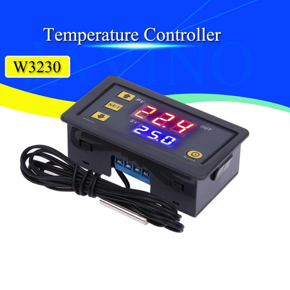 W3230 12V 24V AC110-220V зонд линии 20A цифровой контроль температуры светодиодный дисплей термостат с термостатом/охлаждающим прибором