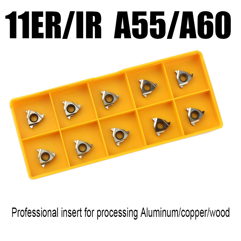 1pcs 11ER IR A55 A60 Threaded Blade Inserts Turning Blade For Aluminum Copper Wood Processing Working Turning Tools