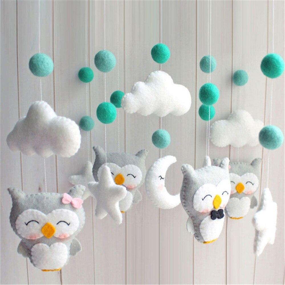 Titular Berço do bebê Chocalhos Conjunto Suporte Clockwork Music Box DIY Pacote de Material de Cama Sino Brinquedo Mãe Grávida Handmade Brinquedos Para bebê