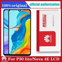 10 PÇS/LOTE grátis DHL 6.15 Display com quadro de Substituição para o Huawei P30 Lite Nova 4e LCD Digitador Da Tela de Toque MAR LX1 LX2 AL01