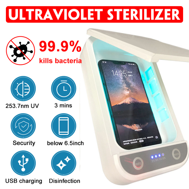 5V UV Mask Sterilizer Box Jewelry Phones Cleaner Personal Sterilizer Disinfection Cabinet with Aroma Esterilizador For Mask 1