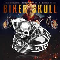 BEIER nouvelle arrivée 316L anneau en acier inoxydable haute qualité Punk crâne biker pour hommes mode bijoux cadeau BR8-668