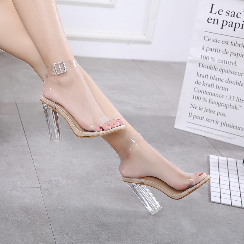 sexy transparent high heels pumps women shoes ladies party shoes woman high heel wedding shoes talon femme fgb56