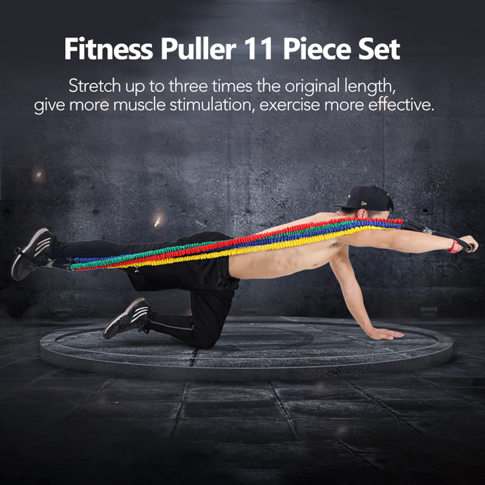 11 PCS Fitness Pull Rope Resistance Bands 4
