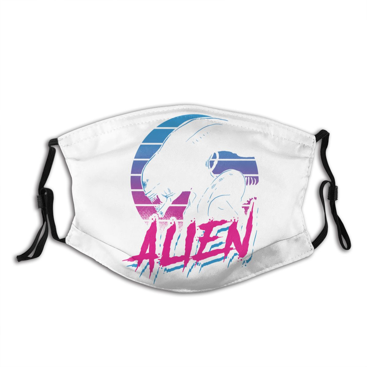 ALIEN EIGHTEES Predator Reusable Mouth Face Mask With Filter Anti Haze Dust Mask Respirator Mouth Muffle
