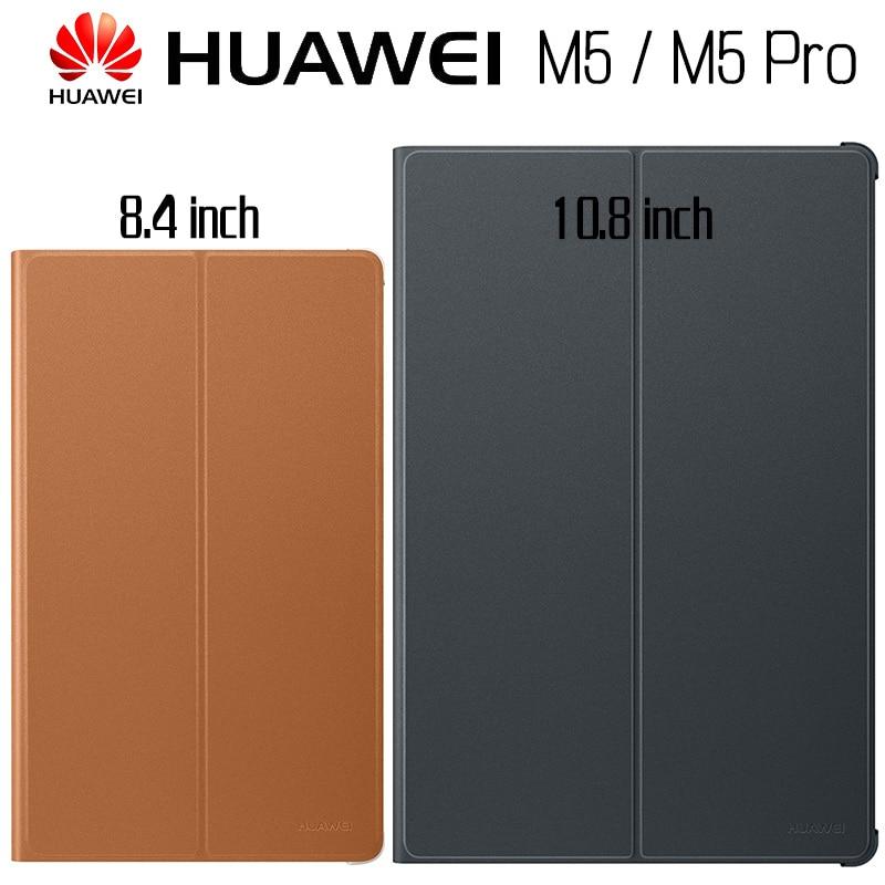Чехол для Huawei M5 10,8, официальный оригинальный чехол 100% дюйма для HUAWEI Mediapad M5 Pro Smart, кожаный откидной Чехол с подставкой, чехол для Mediapad M5 8,4 дюйм...