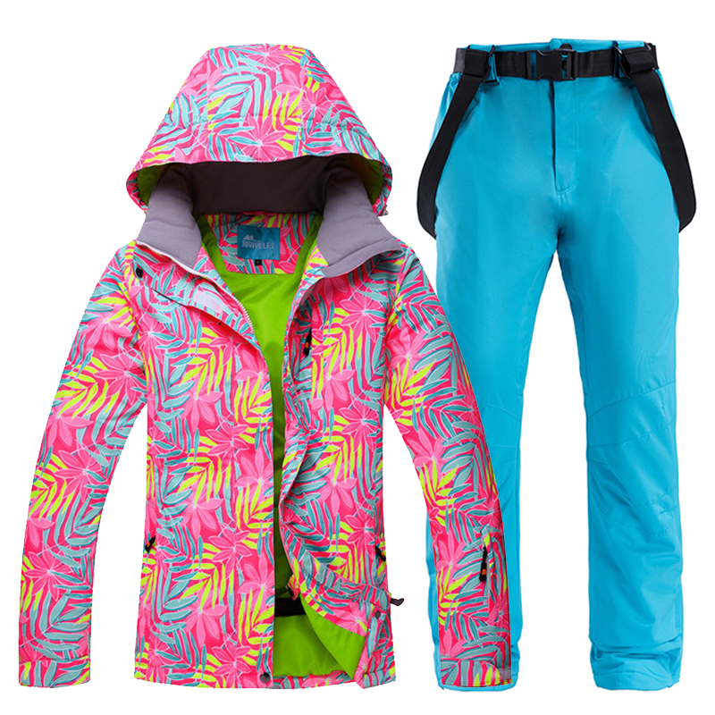 Ski Suit Women -30°C Warm Winter Snow Clothing Set Female Ski Jacket+Pants Waterproof Breathable Skiing And Snowboarding Suits