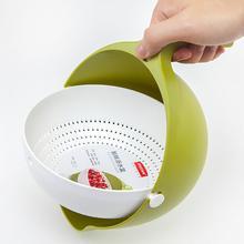 Двойная сливная корзина для мытья чаши, Кухонное ситечко для овощей, фруктов, лапши, высокое качество, модные кухонные инструменты для мытья# 2F