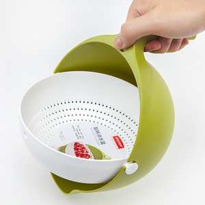 Kitchen Strainer Bowl Noodle Vegetables Double-Drain-Basket Fruit Washing High-Quality