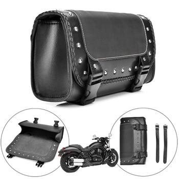 pu leather saddlebag motorcycle saddle bags l Motorcycle saddlebag PU leather Left Right bag luggage saddle bags for Harley Sportster Pannier side saddle bag Motorbike Bag