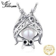 Jдворцовая летучая мышь, созданная сапфировым жемчугом, подвеска, ожерелье из стерлингового серебра 925 пробы, драгоценный камен