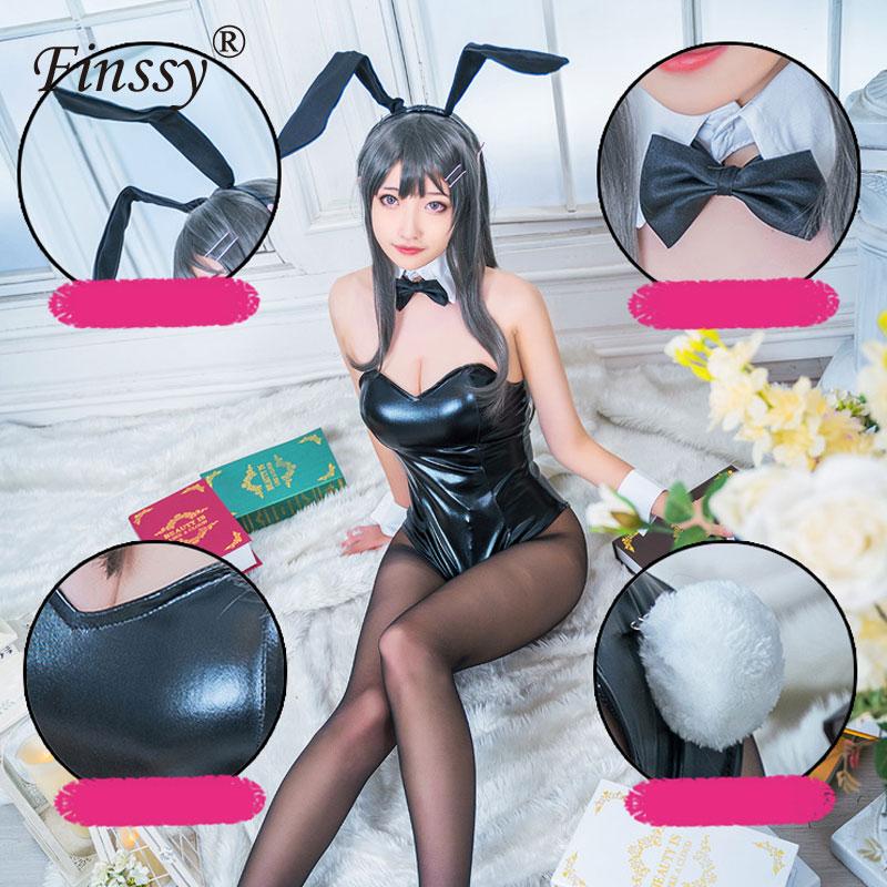 Anime Bunny Mädchen Sakurajima Mai Cosplay Sexy Kostüm Bar Nachtclub Overalls Pole Dance Kleidung