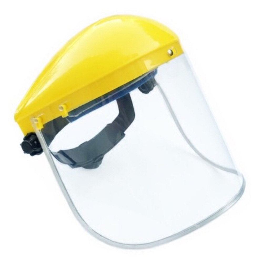 Face Screen Shields Yellow Top Edged Face Shield Visor Eye Protection Guard Safety Work Wear Cover Supplies