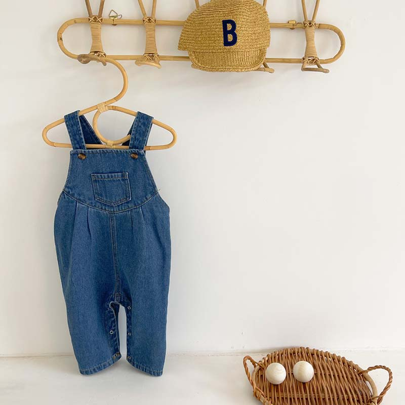 Baby Overalls Spring Autumn New Infant Girls Rompers Denim Boys Jumpsuits Baby Rompers Kids Baby Clothing Long Pants Jeans