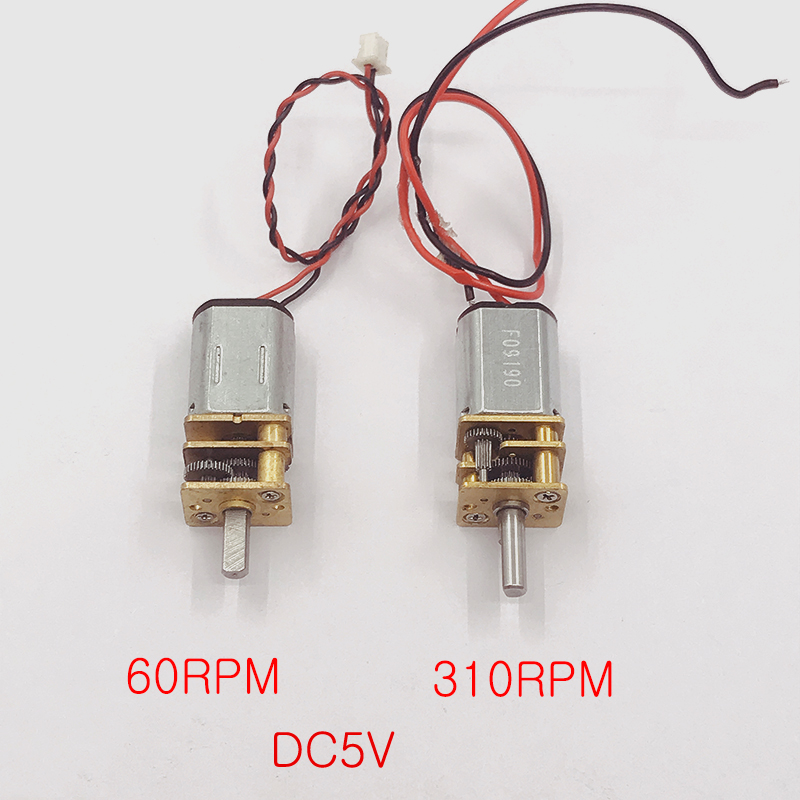 DC 3V 5V 6V 60 70 310RPM Micro Mini N20 Gear Motor Slow Speed  Full Metal Gearbox Gear Reducer Motor DIY Robot Car