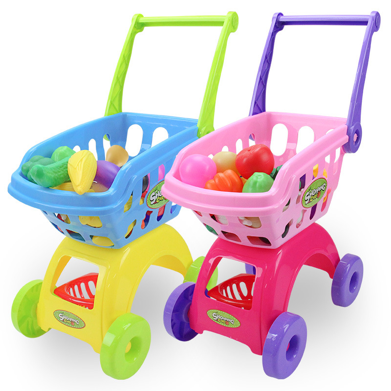 CHILDREN'S Shopping Cart Toy GIRL'S Supermarket Stroller Play House Baby Kitchen Toy Set