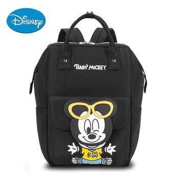 Disney torba na pieluchy Mickey Minnie Mouse plecak dla mamy dziecko torba macierzyństwo na opieka nad dzieckiem torba na pieluchy wózek podróżny USB ogrzewanie tanie i dobre opinie CN (pochodzenie) zipper (30 cm Max Długość 50 cm) 15cm disney bag 27cm 0 75kg 45cm Animal prints