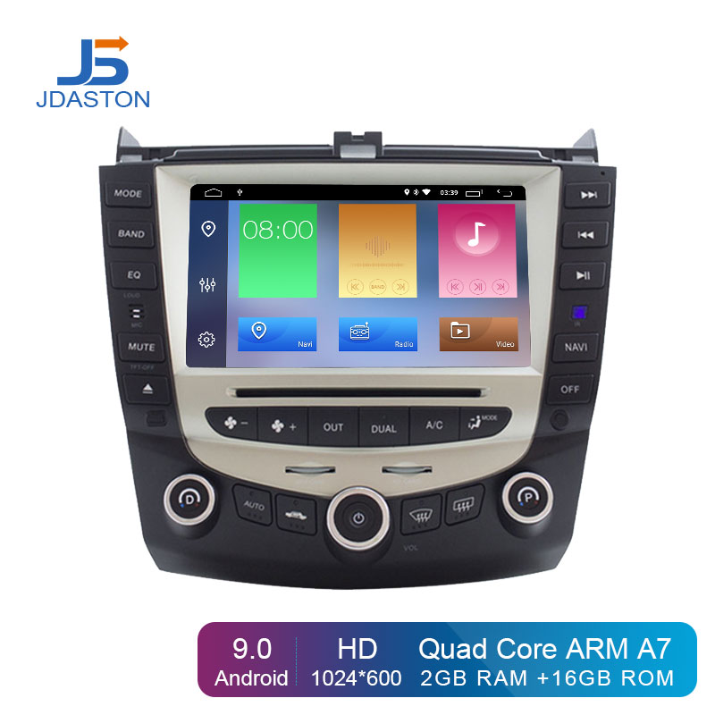 JDASTON Android 9.0 Car DVD Player For <font><b>Honda</b></font> <font><b>Accord</b></font> 07 <font><b>2003</b></font>-2007 steering wheel 2 Din Car Radio Multimedia <font><b>Stereo</b></font> GPS Navigation image
