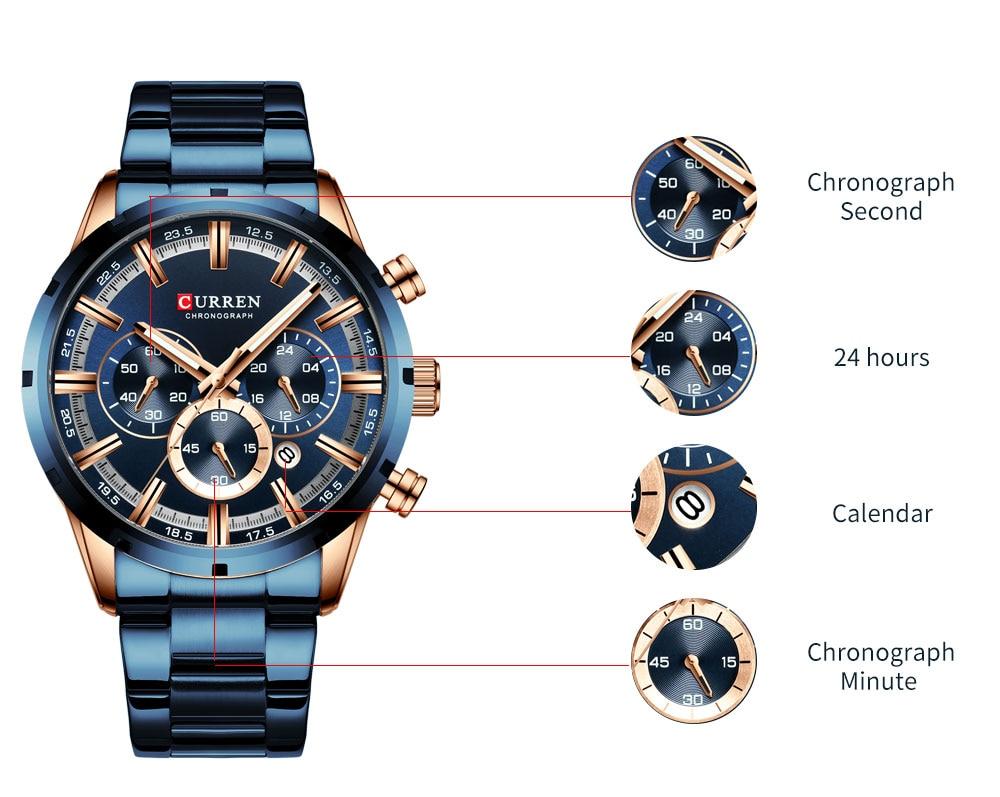 Haf1d37b0684840c6b4867ad168cdce07j CURREN New Fashion Mens Watches Quartz Chronograph