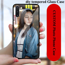 Custom Photo Tempered Glass Case For OPPO F1S F3 F5 F7 F9 F11 Pro F15 Find X2 Pro X A59 A77 A73 A7X A9 A9X A91 DIY Case Cover(China)