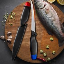 XYj 6 #8221 Cal nóż kuchenny ze stali nierdzewnej czerwony niebieski kolorowe ryby Sushi Sashimi styl japoński nóż kuchenny narzędzia kuchenne płaszcza tanie tanio CN (pochodzenie) STAINLESS STEEL Ekologiczne Noże Ce ue Lfgb Filetowania noże 6 inch Red Blue Slicing Filleting Boning Knife