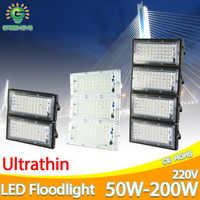 Projecteur LED de la lumière d'inondation 50W 100W 150W 200W AC 220V 240V LED réverbère imperméable IP65 éclairage extérieur LED projecteur d'épi
