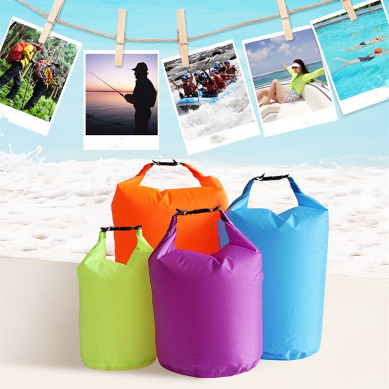 1PC 40L Outdoor Nylon Portable Waterproof Swimming Bags Dry Sack Storage Pouch Bag For Camping Rafting Hiking Trekking Boating