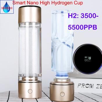 цена на 5500PPB Smart MRETOH 7.8hz Nano high hydrogen generator spe ionizer waterH2 water cup hydrogen rich water bottle IHOOOH