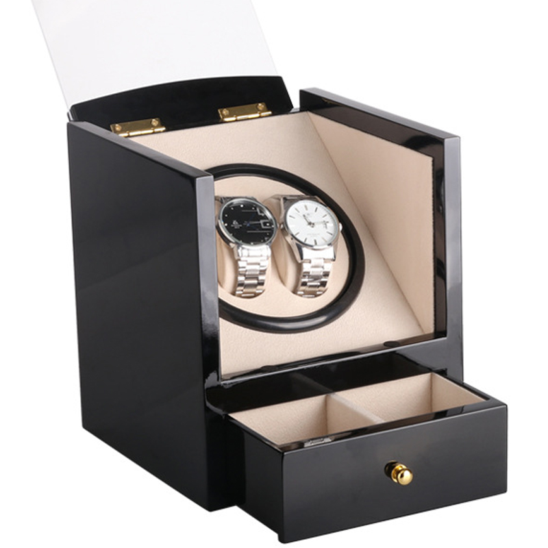 Electric Shaker Watch Winder Storage Box Luxury Double Watches Display Single Motor Box Automatic Winding Watch Collection