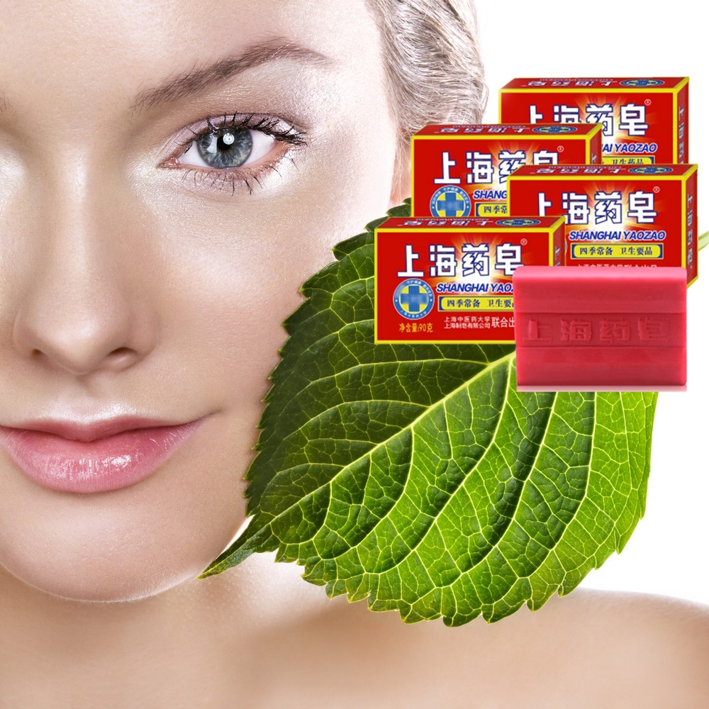 Shanghai Sulfur Drug Soap Oil Control And Acne Removal Therapy Blackhead Cleaner Soap Whitening And Cleaning Cream 90g