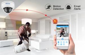 Image 5 - Techage 1080p 2mp dome poe câmera 48v rede hd onvif cctv vigilância de vídeo segurança em casa p2p ir cortar câmeras ip visão noturna