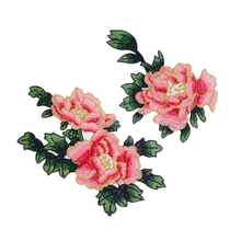 1Pair Sew On Patches Multicolor Peony Flower Embroidery Patch Appliques Badge Stickers Clothes Chinese Style Accessories Patches mc patches set motorcycle club devil embroidery fire patches custom embroidery 1% badge motorclub badge biker vest iron on large