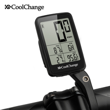 CoolChange Bicycle Computer Wired and Wireless Cycling Speedometer Odometer Rainproof MTB Bike USB Rechargable