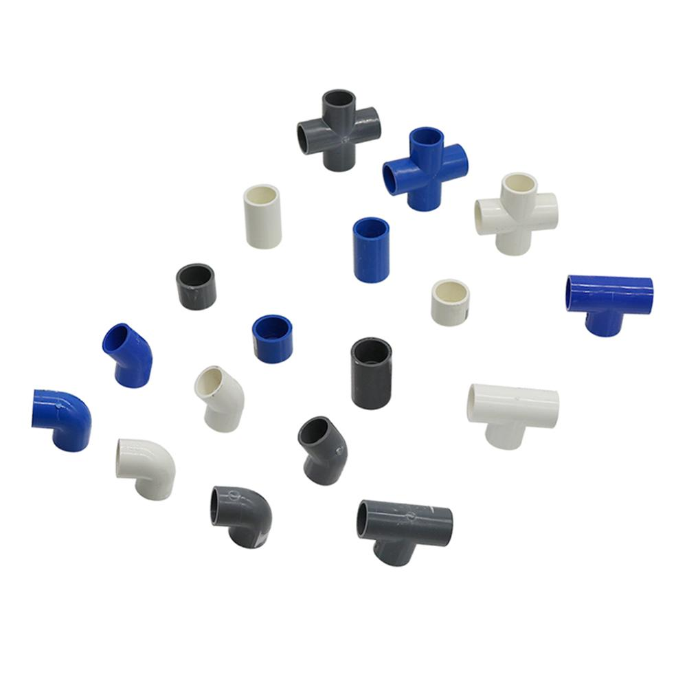 PVC Water Supply Pipe Fitting Tee Cross Straight Elbow Equal Connector Inner Diameter 20mm Plastic Joint Irrigation Adapter 1 Pc