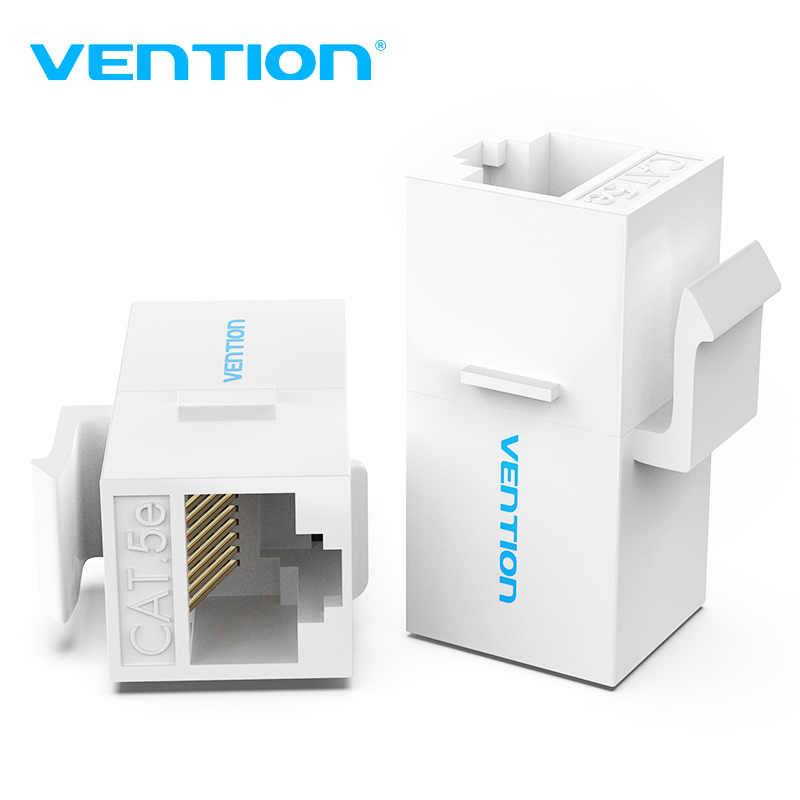 Vention Cat5E موصل RJ45 مقرنة إيثرنت كابل القط 5E أنثى إلى أنثى موسع تمديد محول لكابل إيثرنت