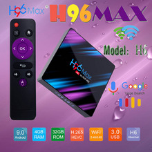 Google smart tv box android 9,0 youtube 4K H96 MAX Media Player BabyRiki 64 GB Android Bluetooth 4,0 The Fixies