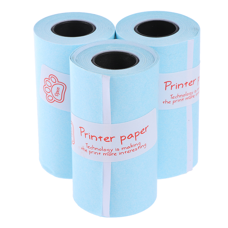 Printable Sticker Paper Roll Direct Thermal Paper with Self-adhesive 57*30mm(2.17*1.18in) for PeriPage A6 Pocket PAPERANG P1/P2