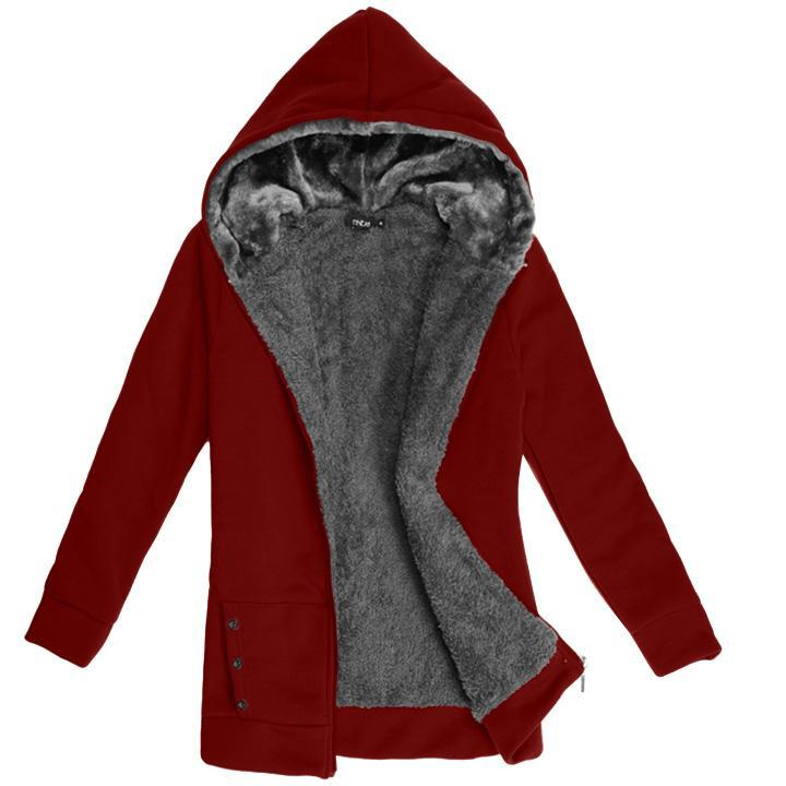 Fashion Casual Women's Ladies' Thicken Warmer Hoodie Coat Outerwear Jacket Women\'s