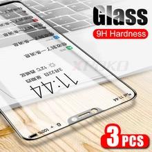 3 pçs capa completa 9 h vidro temperado para xiaomi redmi nota 7 5 6 pro protetor de tela para redmi 7 k20 pro 6a 5a 5 plus filme de vidro