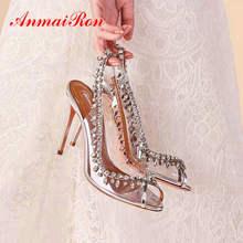 ANMAIRON Luxury Shoes Women Designers Elegant Peep Toe Wedding Shoes
