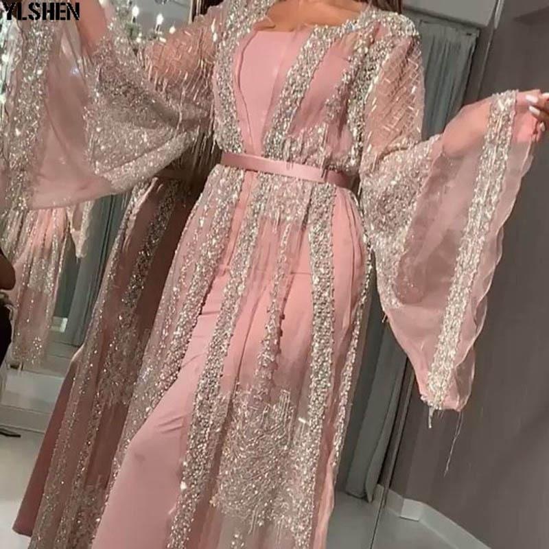 2 Piece Set African Dresses for Women Dashiki Hot Stamping Africa Dress African Clothes Abaya Dubai Muslim Dress islam Clothing 02