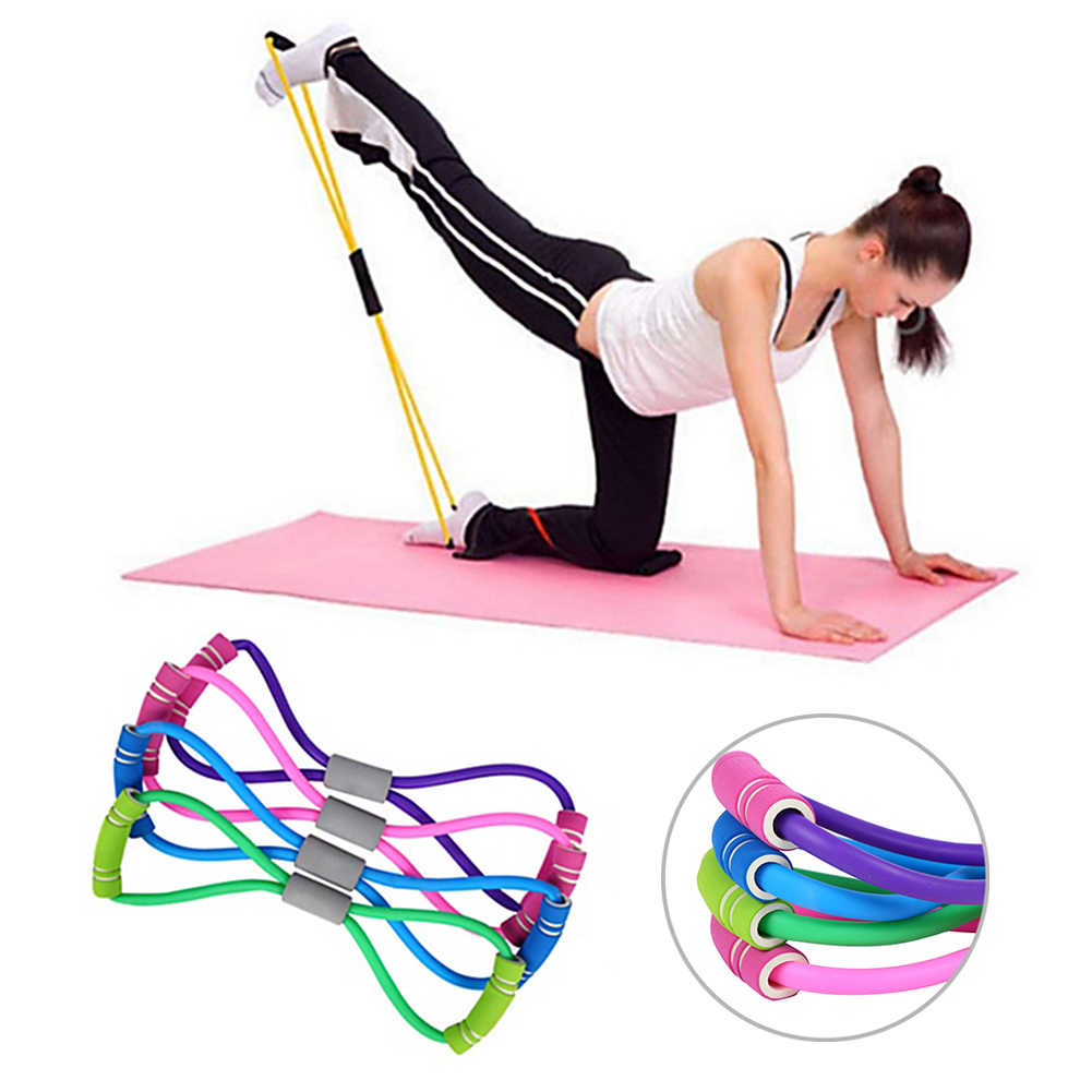 New Yoga Gym Fitness Resistance 8 Word Chest Expander Rubber Tubing Pull Rope Workout Muscle Elastic Bands For Sports Exercise Aliexpress